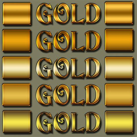 photoshop gold styles free gold photoshop styles download