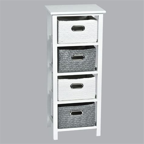 Commode Panier by Commode Panier Blanc Gris