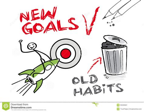 new year date changes new goals habits stock image image 35539561