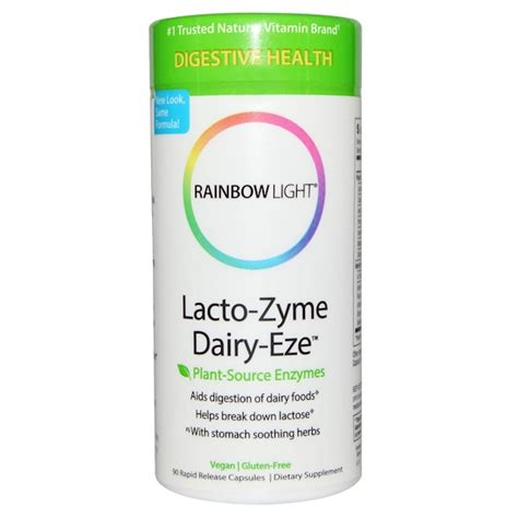 rainbow light all zyme rainbow light lacto zyme dairy eze plant source enzymes