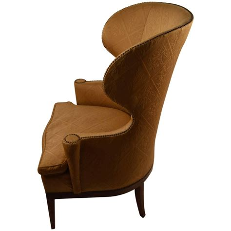 Wing Back Chair by Stylish Barrel Back Wing Chair At 1stdibs