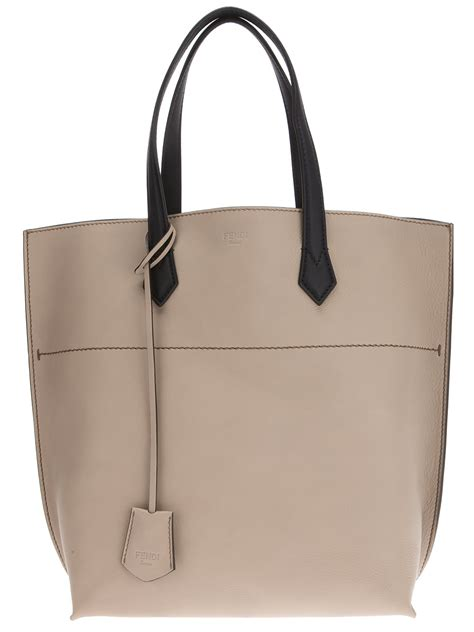 The Bag For The Who Is Doing The Gardener by Fendi Shopper Bag In Gray Lyst