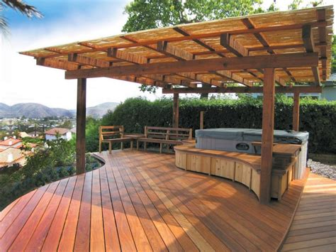 deck patio design decks raised vs grade level hgtv