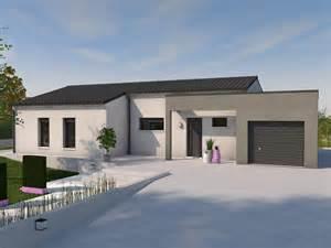 maison toit plat maison plain pied maison contemporaine