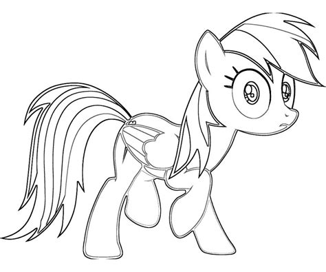 Free Coloring Pages Of My Little Pony Rainbow Dash Rainbow Dash Colouring Pages