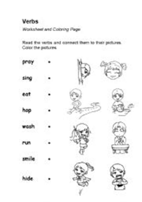 coloring page action words verbs or action words worksheet coloring page