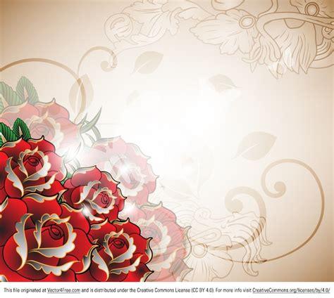 romantic flower background vector vector flower free vector free free roses vector background
