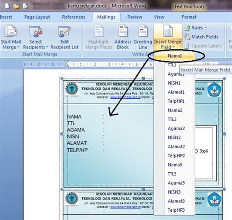 membuat rapor dengan mail merge cara membuat kartu pelajar dengan mail merge republic of