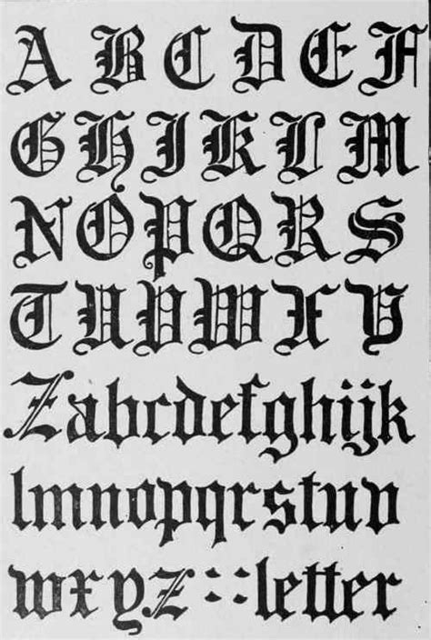 tattoo fonts gothic black letter script evolved from carolingian in