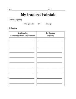 fractured tale worksheet fractured tales tales and fairies on