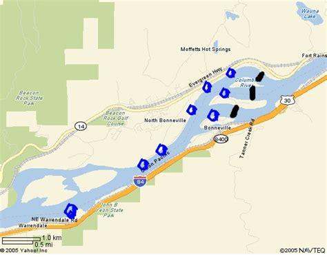 columbia river fishing map american shad fishing oregon oregon discovery