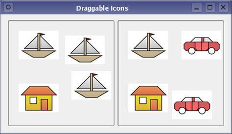 qt tutorial drag and drop draggable icons exle qt widgets 5 10