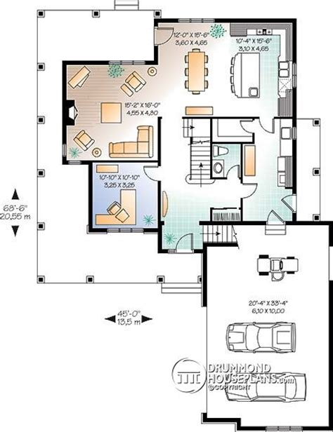 open space house plans plan of the week 4 bedroom home with bonus space