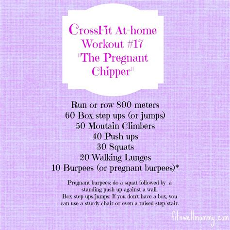 crossfit at home workout 17 the chipper