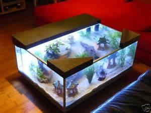 fabrication de table de salon aquarium