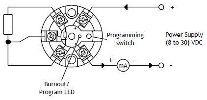 Sem203p In Head 4 20ma Temperature Transmitter For Pt100