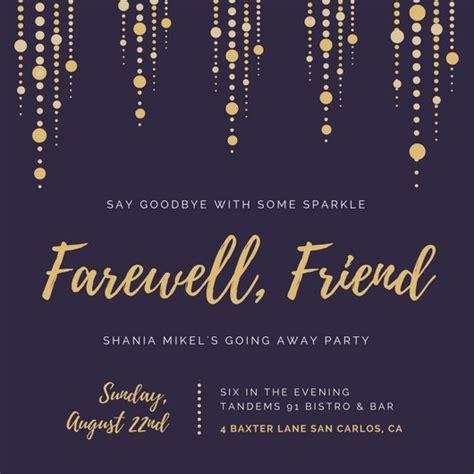 farewell card template black and white farewell invitation templates canva