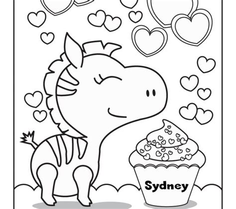 custom coloring page from your name cornucopia coloring