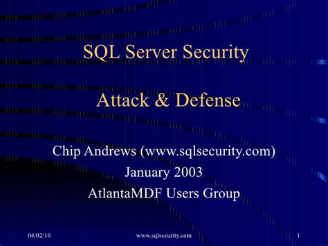 sql server security attack