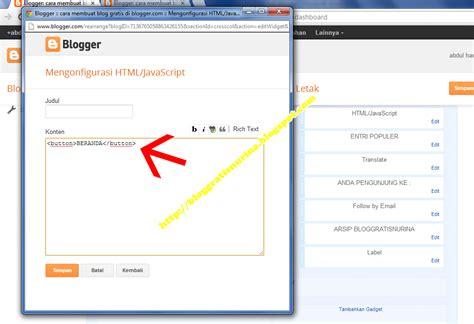 link membuat blog gratis cara mengambil link dan memasukkannya kedalam menu tombol