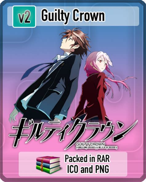 guilty crown anime icon by rizmannf on deviantart guilty crown anime icon v2 by amirovic on deviantart