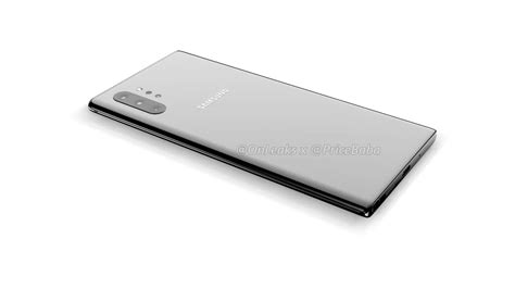 Samsung Galaxy Note 10 6 75 by Galaxy Note 10 Pro Render Shows Four Rear Cameras And 6 75 Quot Screen