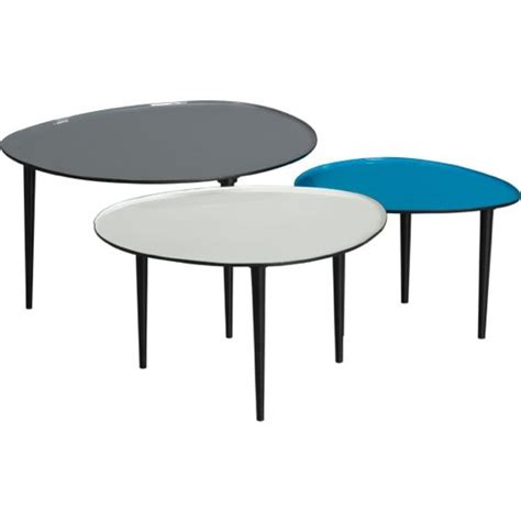 Table Nests Coffee Table Or Separate The Options Lucent Nesting Tables Set 349 00 Cb2 Living Room