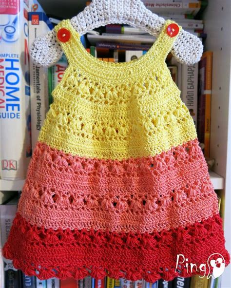 dress pattern for 8 year old crochet baby dress crochet pattern crochet summer dress