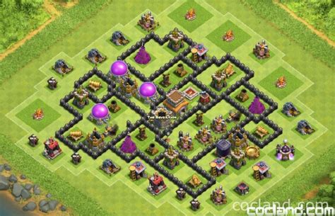 layout th8 home base th8 trophy base collection clash of clans land