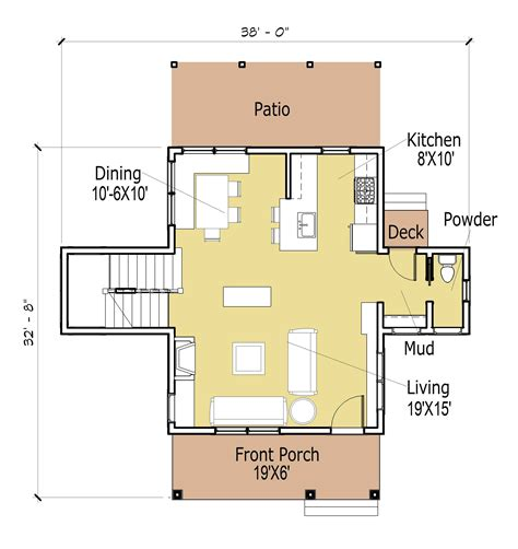 modern cabin floor plans pioneers cabin 16x20 tiny house design 16 c3 a3 c2 9720