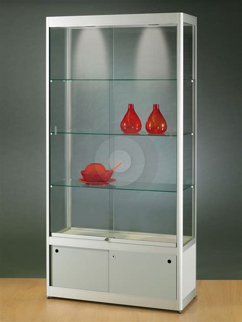 Excellent Corner Ikea Glass Display Cabinet With Lights Used Display Cabinets With Glass Doors