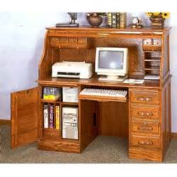 Oak Roll Top Computer Desk Computer Desk With Door Deluxe Oak Roll Top Computer Desk 5307 Co Elitedecore