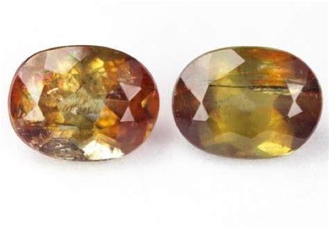 Citrine Quartz 3 05ct 3 05ct pair of andalusite gemstone