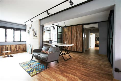 hdb home decor ideas this industrial hdb flat is edgy yet cosy singapore and