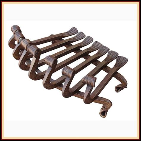 decorative wrought iron fireplace grate northshore