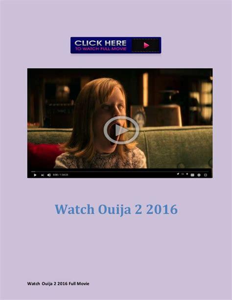 Watch Ouija 2 (2016) full movie streaming free Free Movies Online 2016 Streaming