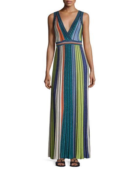 H M Striped Maxi Dress T3010 m missoni metallic vertical striped maxi dress