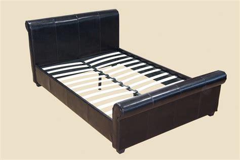 platform bed slats queen size mansfield espresso sleigh platform bed frame