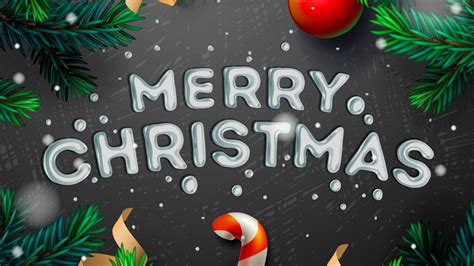 wallpaper merry christmas holiday typography  full hd hdtv fhd