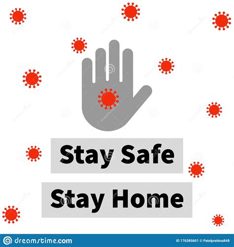 abstract background  message written stay safe stay
