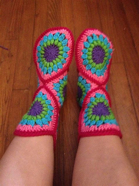 crochet boot slippers free patterns the diy crochet hexagon slipper boots free pattern