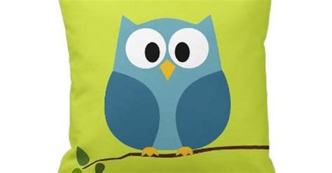 Bantal Owl 59 95 owl on branch with pattern on back by myrazzledazzle gifts babies kds