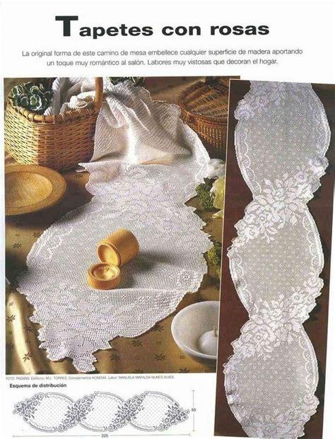 como hacer un caminito al crochet caminos de mesa a crochet patrones imagui