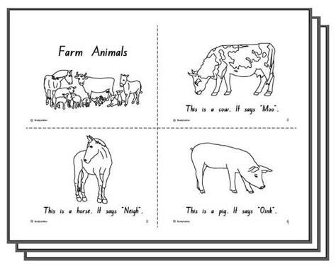 printable animal activity book farm animals student booklet english skills online