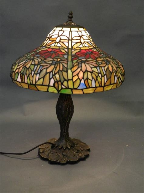 a style table l with glass shade 22 quot h
