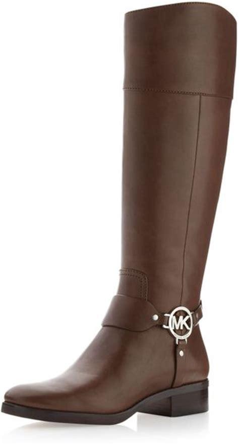 michael michael kors fulton harness boot in brown birch