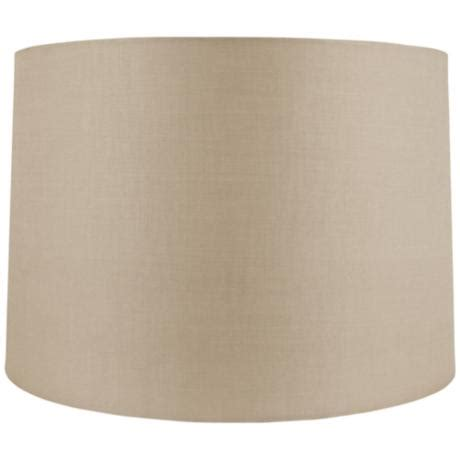 Beige Drum L Shade by Beige Linen Drum Shade 16x17x11 5 Spider 8m196