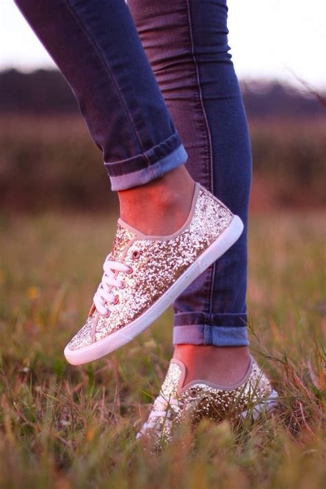 sparkle sneakers vans vans authentic gold glitter trainers at asos
