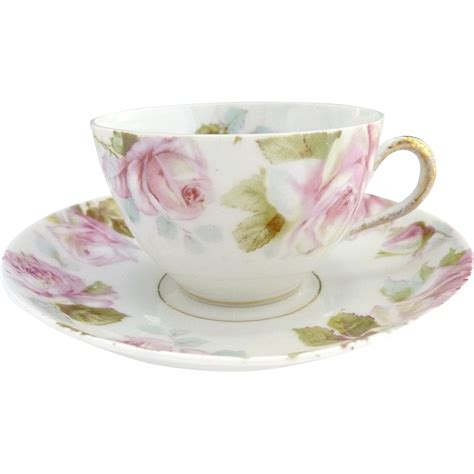 Tea Cup 5 by Antique Tea Cup Pink Roses 5 O Clock Tea Ohme C 1892 From