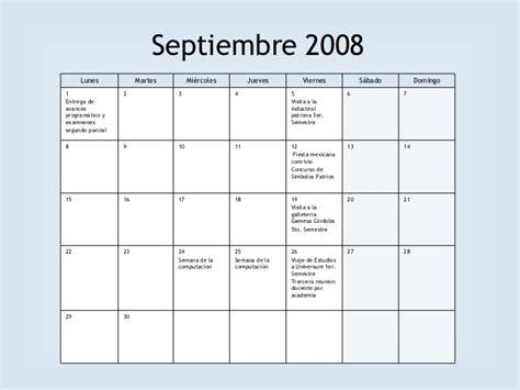 Calendario Agosto 2008 Calendario De Actividades Agosto 2008 Enero 2009